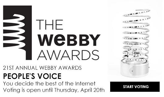 นับถอยหลังโหวตรางวัลที่สุดบน Social เวที Webby Awards ครั้งที่ 21
