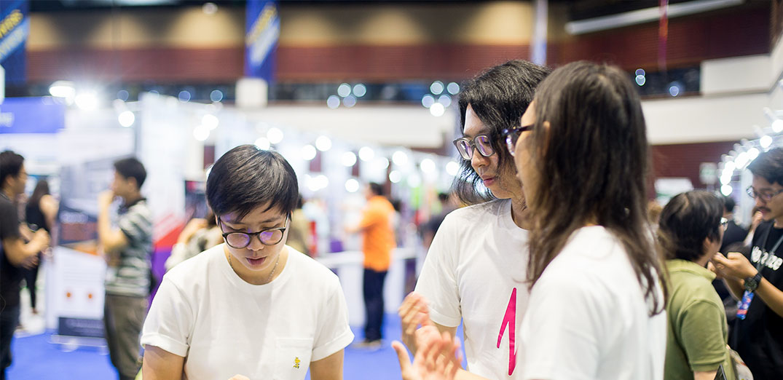MY BAND ร่วมออกบูธงาน Startup Thailand 2017