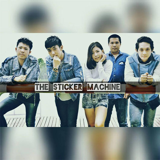 The sticker machine