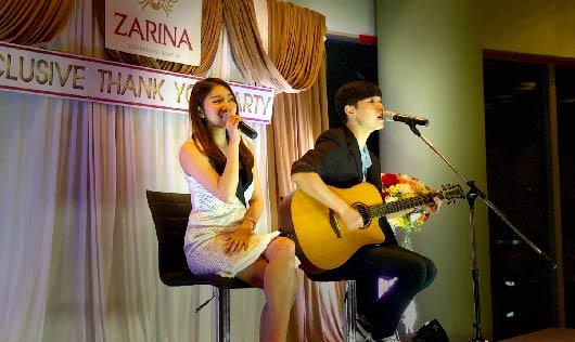 Canary Cry วงดนตรีงานเลี้ยง ร่วมกับ บริษัท ซาริน่า กรุ๊ป จำกัด (มหาชน)
