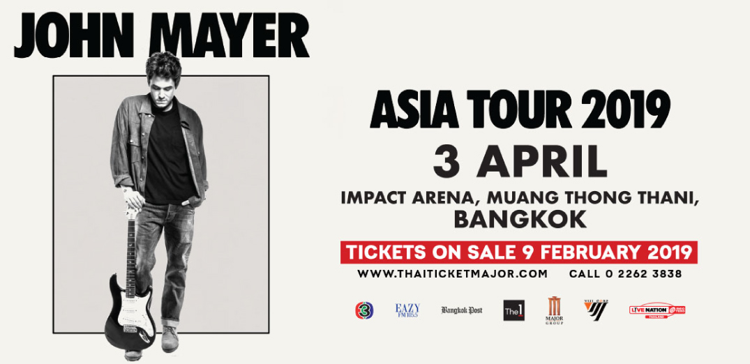 John Mayer Asia Tour Live in Bangkok 2019