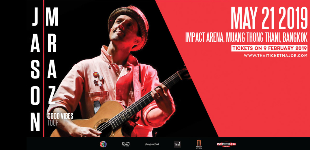 JASON MRAZ GOOD VIBES TOUR 2019