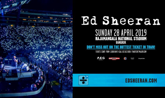 ED SHEERAN DIVIDE WORLD TOUR 2019 - BANGKOK