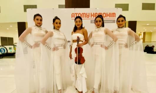 ICE Electric violin show ในงานเลี้ยงบริษัท ATOMY SUCCESS ACADEMY